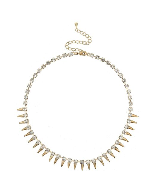 Mikey | Metallic Spike Necklace | Lyst