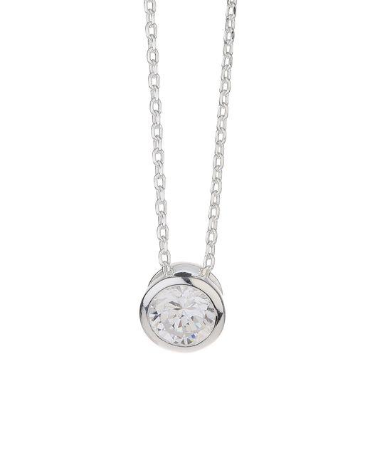 Mikey | Metallic Silver 925 Circle Stone Pendant | Lyst