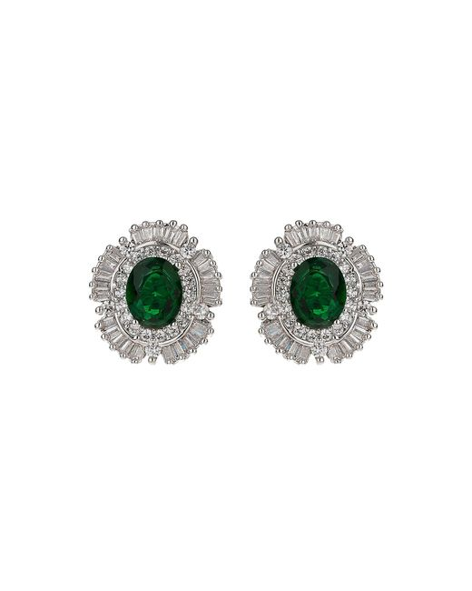 Mikey   Multicolor Cubic Square Centre Stud Earring   Lyst