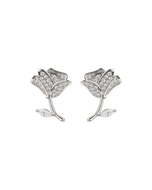 Mikey | Multicolor Flower Stem Crystal Stud Earring | Lyst
