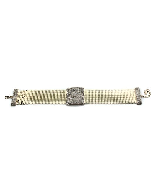 Mikey - Multicolor Crystal Rectangle Design Choker - Lyst
