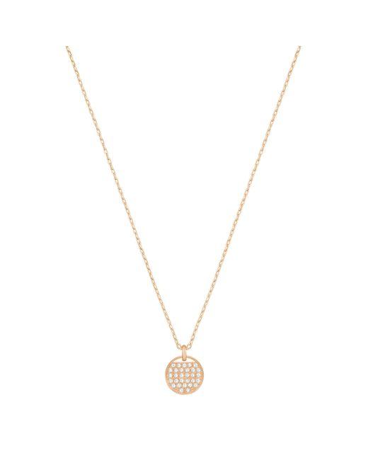 Swarovski | Metallic Ginger Crystal Pendant Necklace | Lyst