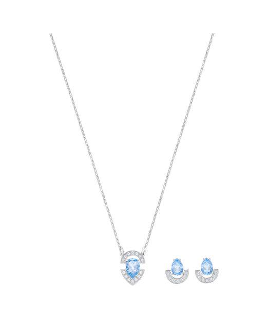 Swarovski | Gallery Pear Set, Blue | Lyst