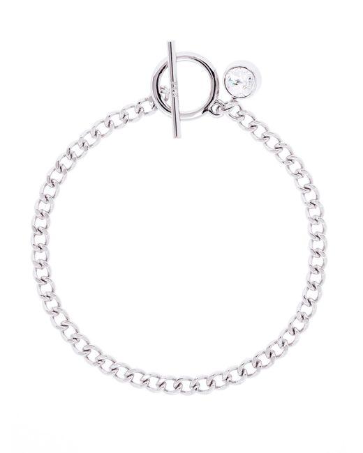 Karen Millen | Metallic Quantum Swarovski Crystal T-bar Chain Bracelet | Lyst