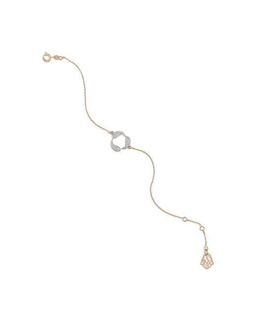 Mikey | Metallic Nut Design Crystal Bracelet | Lyst