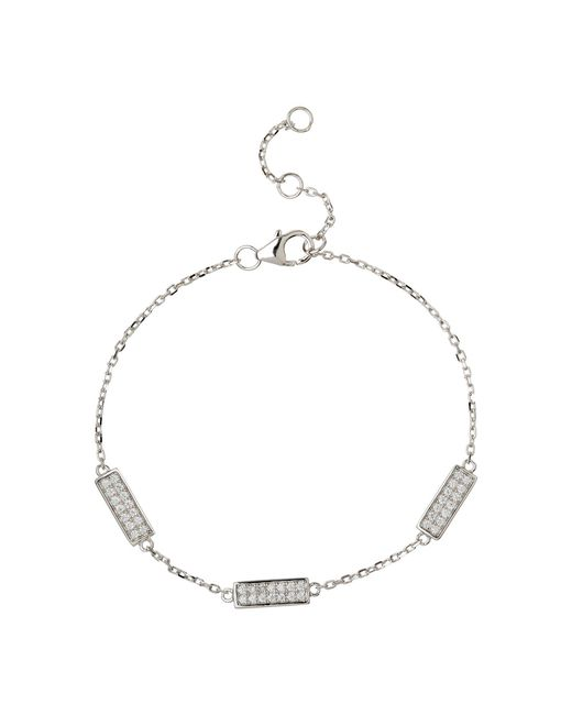 Mikey - Metallic Sterling Silver 925 Tab Link Tennis - Lyst