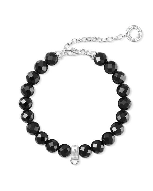 Thomas Sabo | Metallic Charm Club Silver Bead Charm Bracelet | Lyst