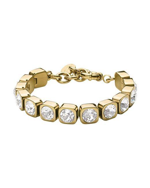 Dyrberg/Kern | Metallic Dk328902 Conian Crystal Bracelet | Lyst
