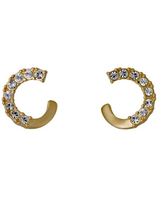 Pilgrim | Metallic Shany Gold Plated Crystal Earrings | Lyst