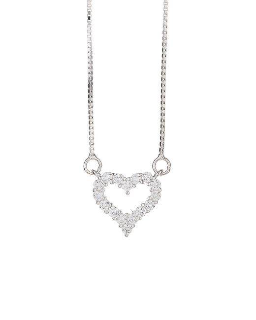 Mikey - Metallic Sterling Silver925 Heart Design Pendant - Lyst