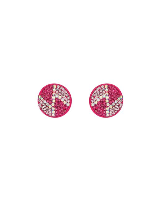 Mikey | Purple Round Z Earrings | Lyst
