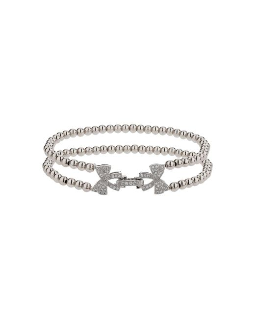 Mikey - White Twin Butterfly Inter Lock Bracelet - Lyst