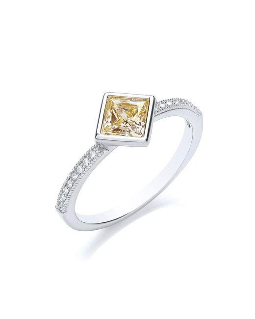 Bouton - Metallic Stacker Ring Princess - Lyst