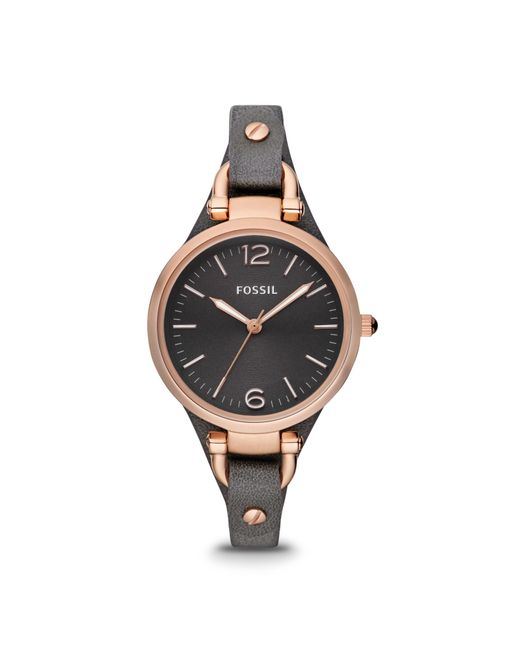 Fossil | Gray Es3077 Ladies Strap Watch | Lyst