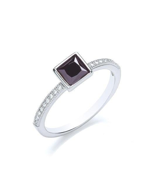Bouton | Metallic Stacker Ring Princess | Lyst
