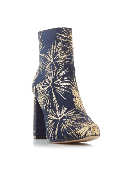 Ted Baker - Blue Ishbel Metallic Jacquard Ankle Boots - Lyst