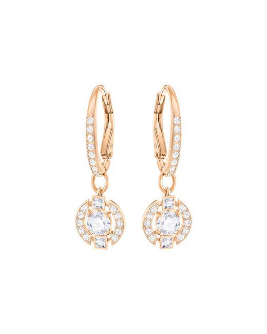 Swarovski - Metallic Sparkling Pierced Earrings - Lyst