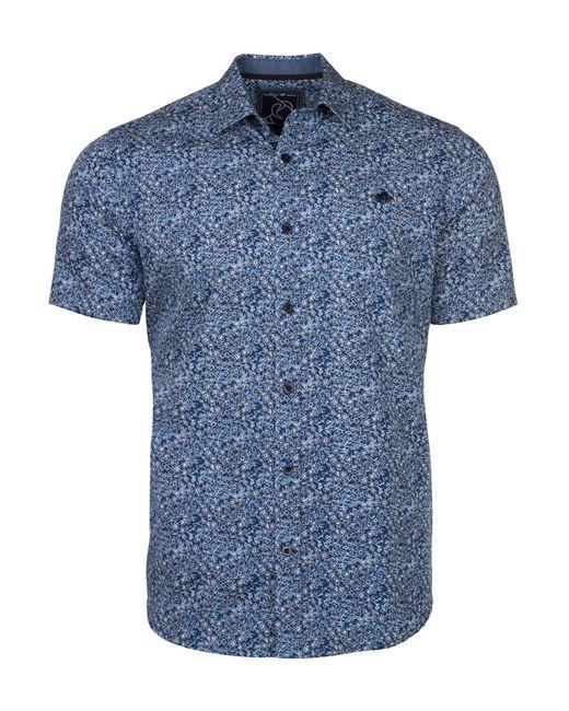 Raging Bull | Blue Men's Big & Tall Short Sleeve Floral Print Shirt for Men | Lyst