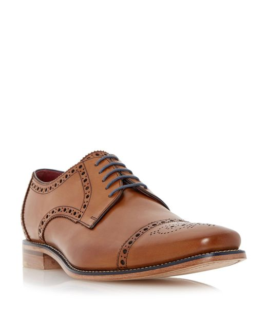 Loake - Brown Foley Brogue Toecap Leather Gibson Shoes for Men - Lyst