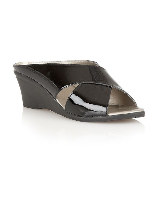 Lotus - Black Trino Wedge Sandals - Lyst