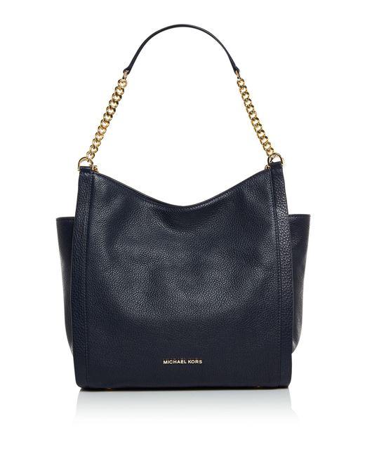 Michael Kors | Blue Newbury Medium Chain Shoulder Tote Bag | Lyst