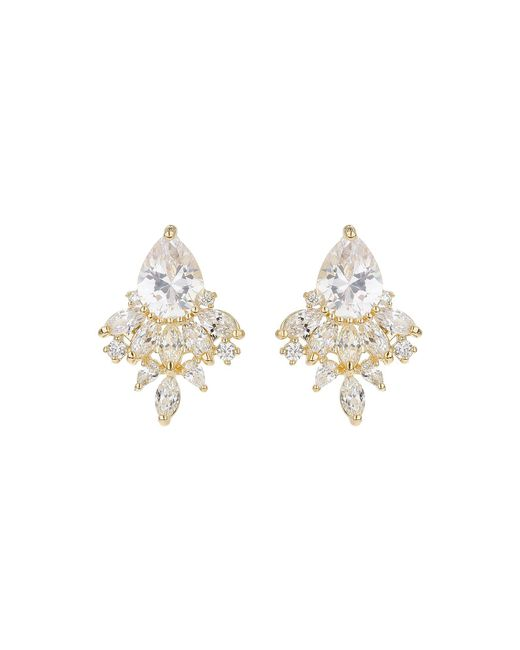 Mikey - Metallic Oval Cubic Filligree Stus Earring - Lyst