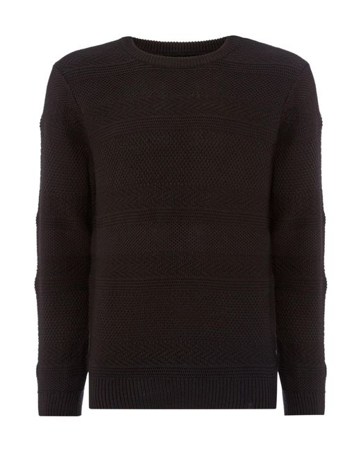 Criminal - Black Men's Melfont Knit Jumper for Men - Lyst