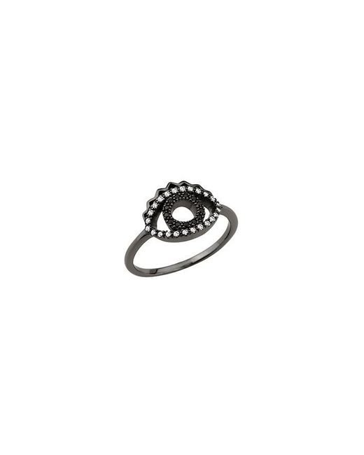 KENZO - Black 24134331505 Ruthenium And Cz Ring - Lyst