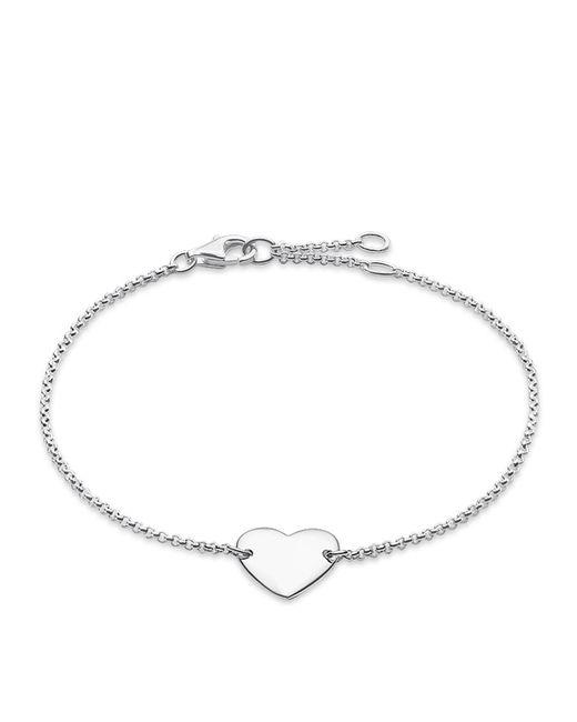 Thomas Sabo - Metallic Classic Silver Heart Tag Bracelet - Lyst
