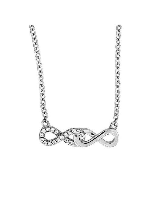 Azendi - Metallic Double Infinity Necklace - Lyst