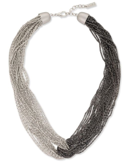 East | Metallic Two Tone Knot Necklace | Lyst