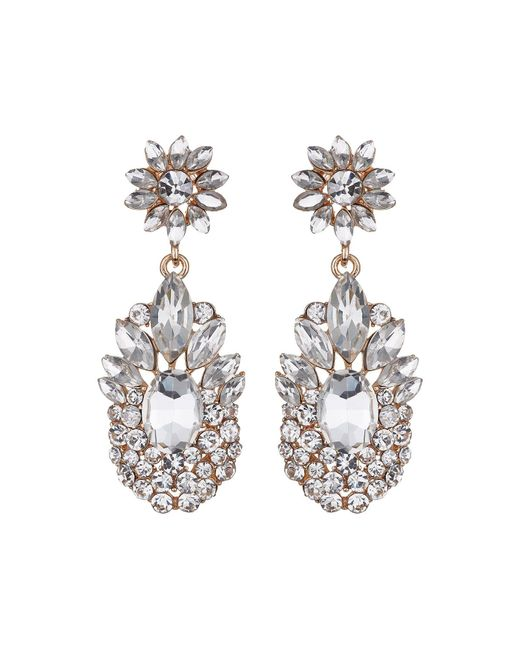 Mikey - White Flower Drop Fillagary Flower Earring - Lyst