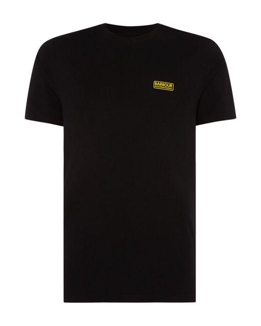 Barbour - Black International Small Logo T-shirt for Men - Lyst