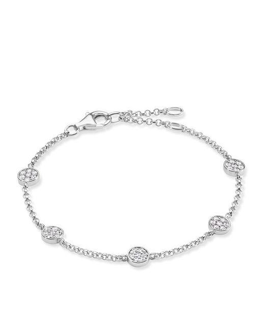 Thomas Sabo - Metallic Sparkling Circles Pave Set Bracelet - Lyst