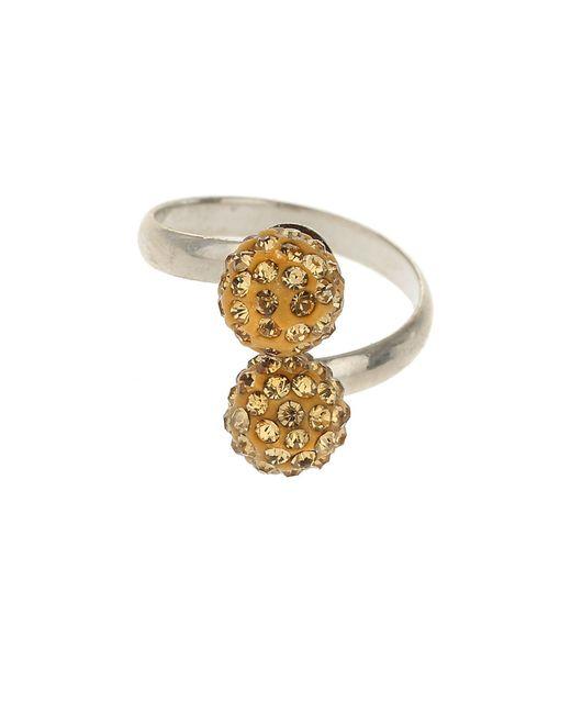 Mikey - Metallic Twin Crystal Ring - Lyst