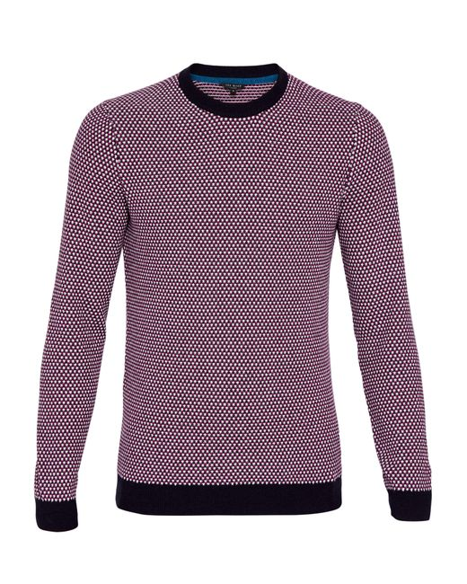 Ted Baker | Purple Coftini Crew Neck Knitted Jumper for Men | Lyst