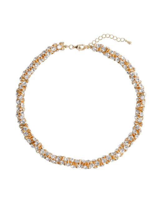 Mikey - Metallic Cubic Dumbell Beads Linked Necklace - Lyst