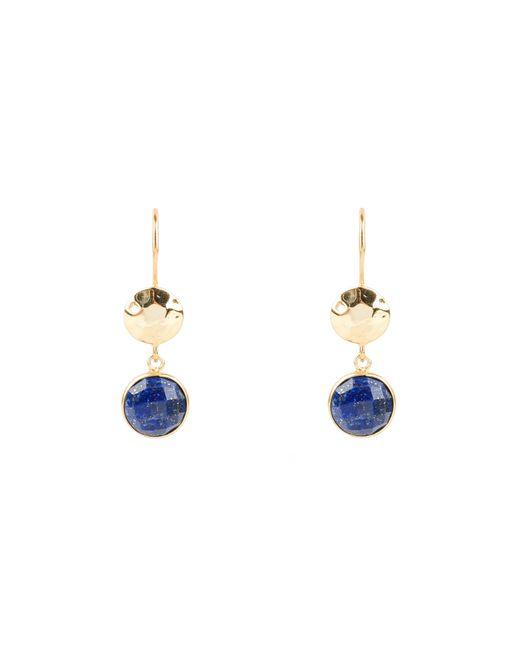 Latelita London - Blue Circle Hammer Earring Lapis - Lyst