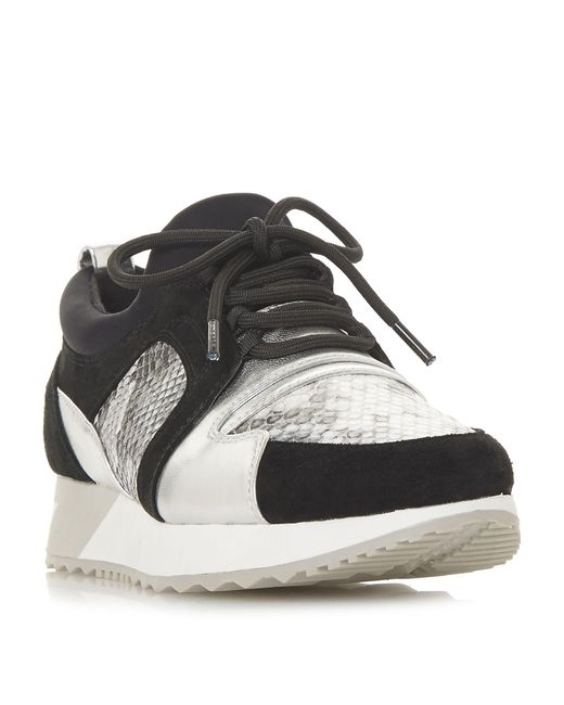 Dune - Black Eavie Mixed Material Runner Trainers - Lyst