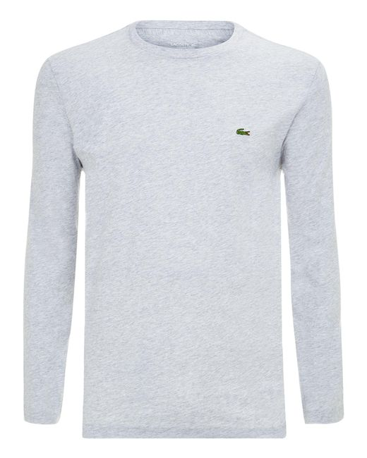 Lacoste | Gray Long Sleeved T-shirt for Men | Lyst