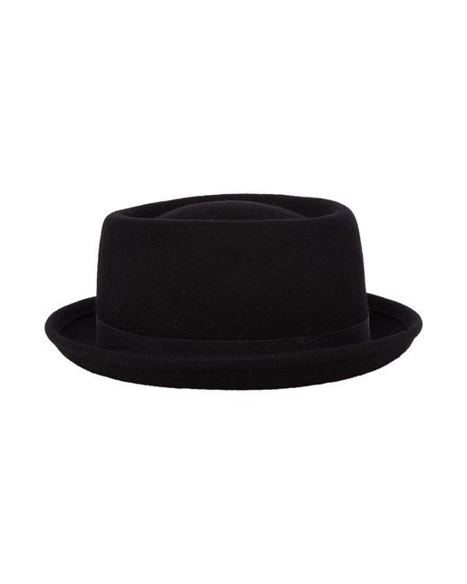 Howick   Black Wool Melton Pork Pie Hat for Men   Lyst
