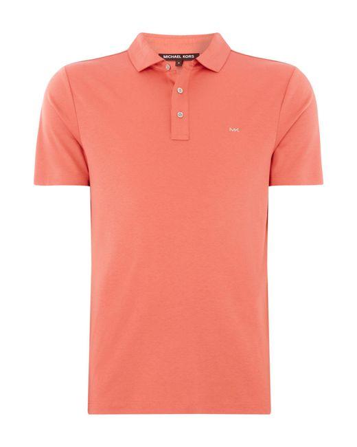 Michael Kors - Orange Men's Slim Fit Sleek Polo Shirt for Men - Lyst