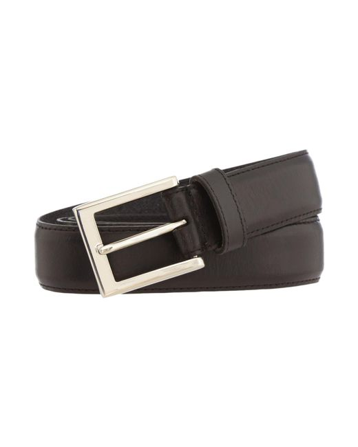 Howick - Black Leather Stitched Belt for Men - Lyst