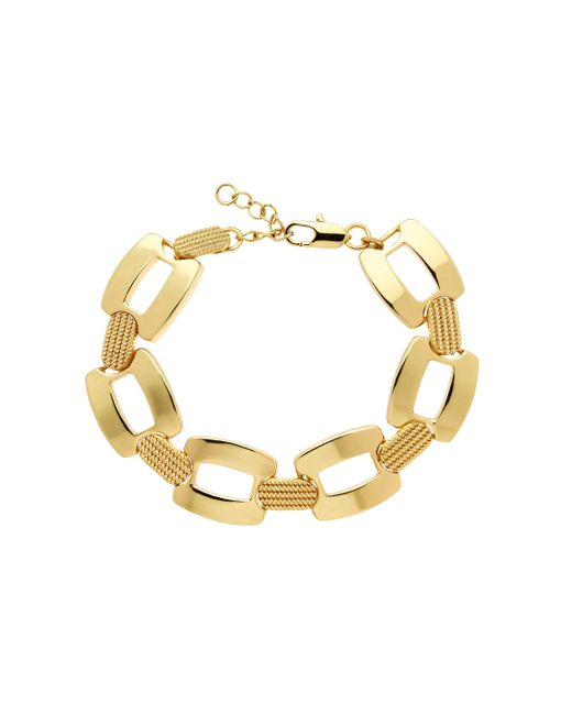 Monet | Metallic Gold Textured Open Link Bracelet | Lyst