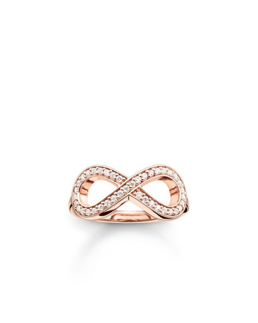 Thomas Sabo | Pink Glam & Soul Rose Gold Infinity Ring | Lyst