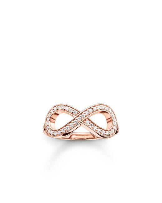 Thomas Sabo - Pink Glam & Soul Rose Gold Infinity Ring - Lyst