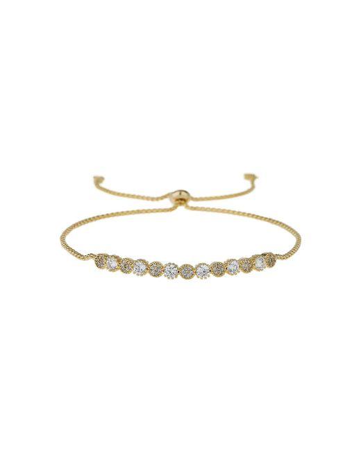 Mikey - Metallic Rnd Crystal Id Self Tue Up Bracelet - Lyst