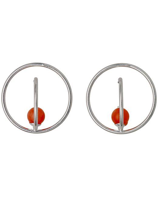 Pilgrim | Sweet Silver Orange Stone Hoop Earrings | Lyst