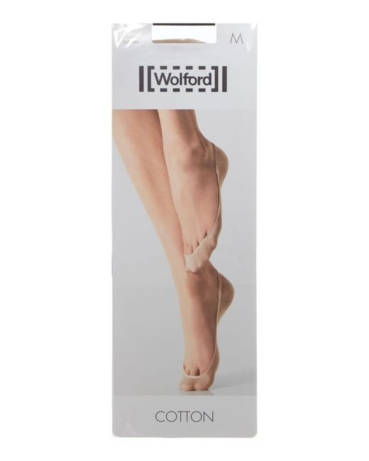Wolford | Natural Cotton 1 Pair Pack 15 Denier Footsie Socks | Lyst
