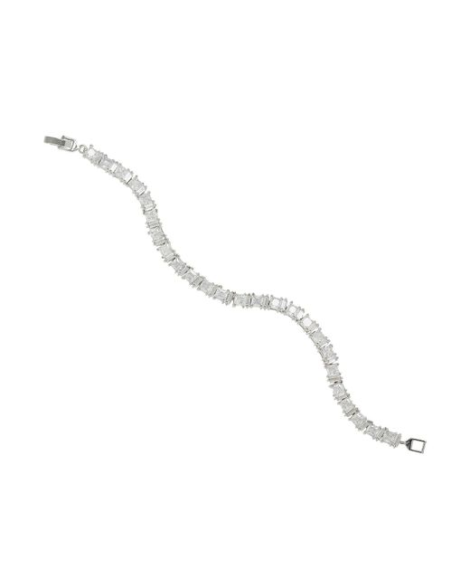 Mikey - Metallic Sqaure Cubic Linked Chain Bracelet - Lyst